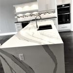 Cambria Brittanicca Kitchen Island with Waterfall End Edge