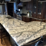 Cambria Langdon kitchen island