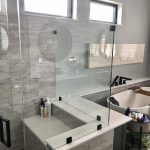 Cambria White Cliff Shower Deck