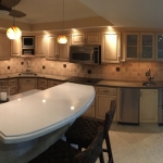 Cambria Newport and Sussex kitchen