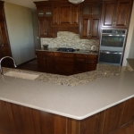 Cambria Ramsey kitchen island