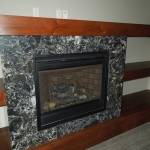 Cambria Hollinbrook fireplace surround
