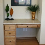 Travertine desk top