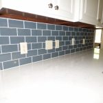 "3x6"" Slate Blue Glass Subway Tile"
